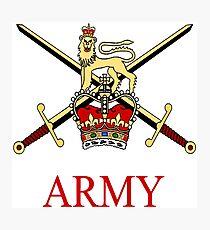 British Army Crest Photographic Print
