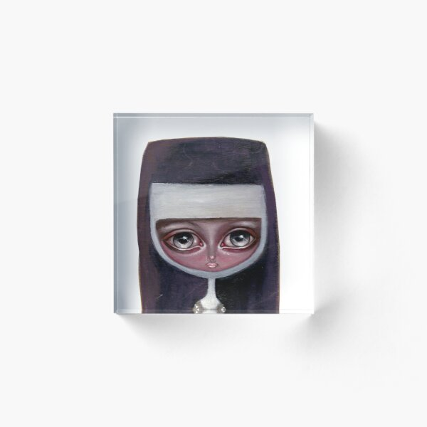 nun clear background Acrylic Block
