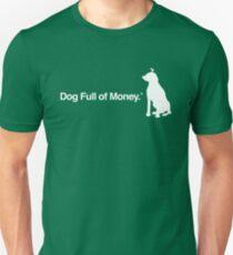 Dog Full of Money & Logo WHITE T-Shirt