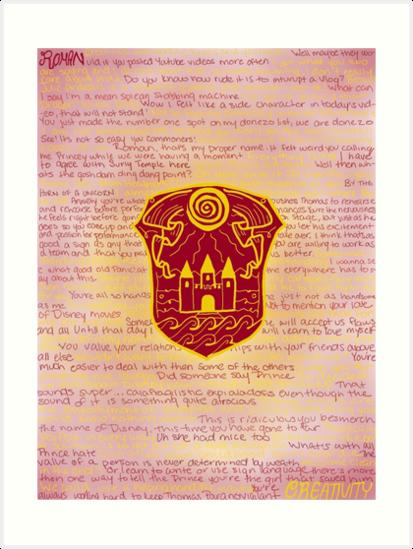 'Roman Sanders ' Art Print by katperez0415