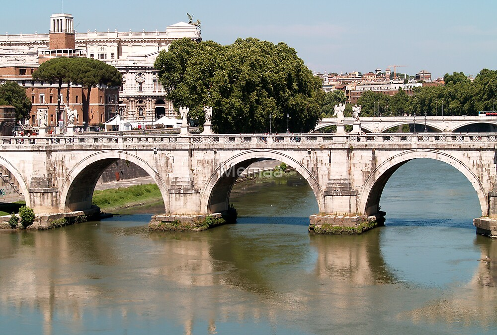 Bridge over the Tiber - Rome by Memaa