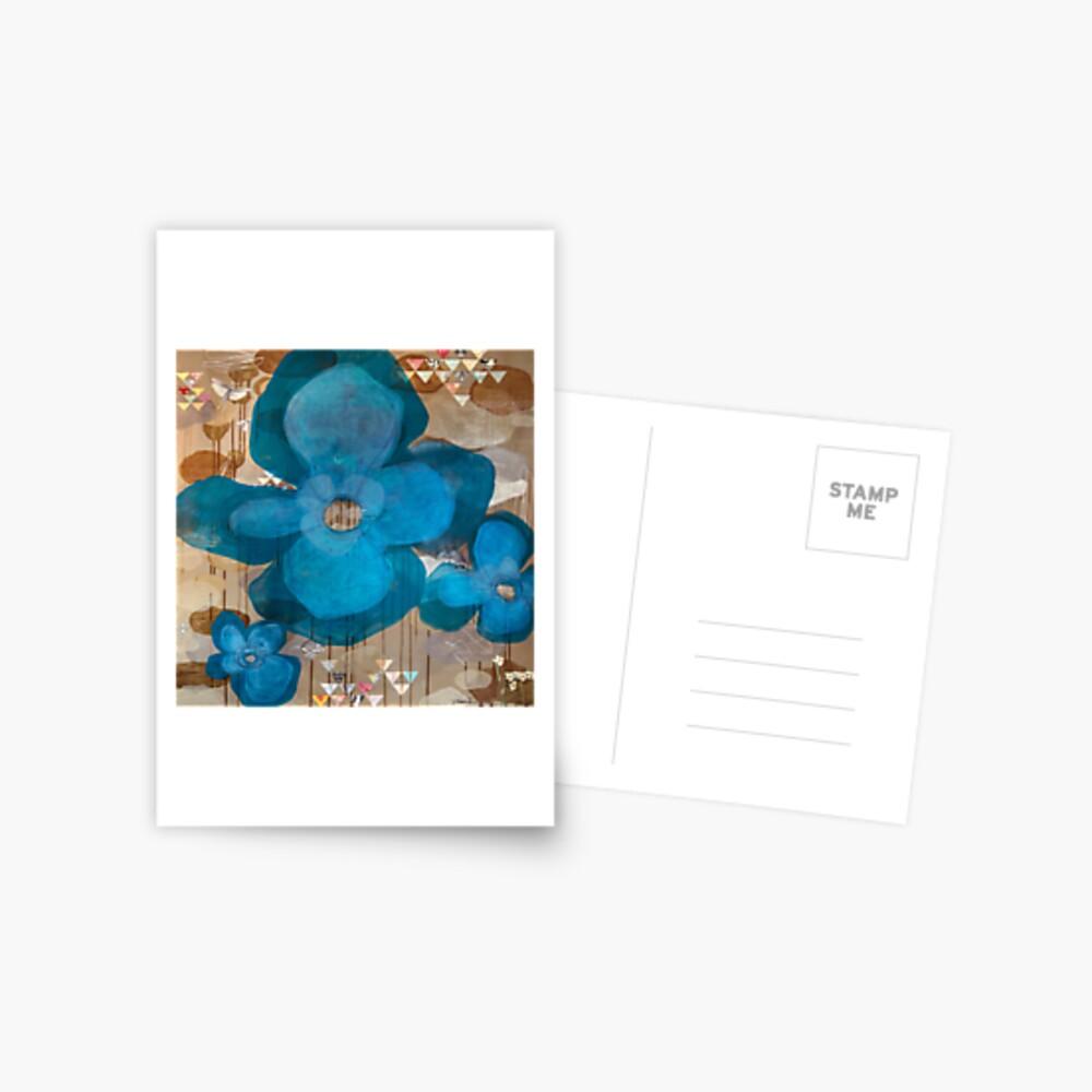Fragmentary Blue Postcard