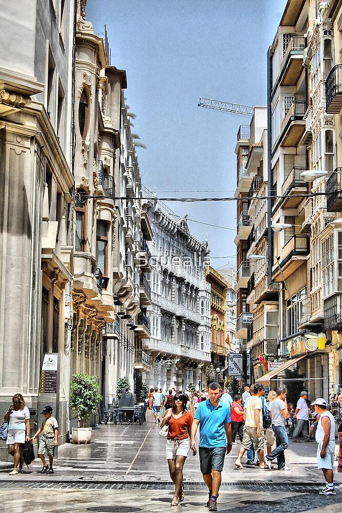 Calle Mayor, Cartagena, Spain by Squealia