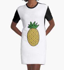 Pineapple Graphic T-Shirt Dress