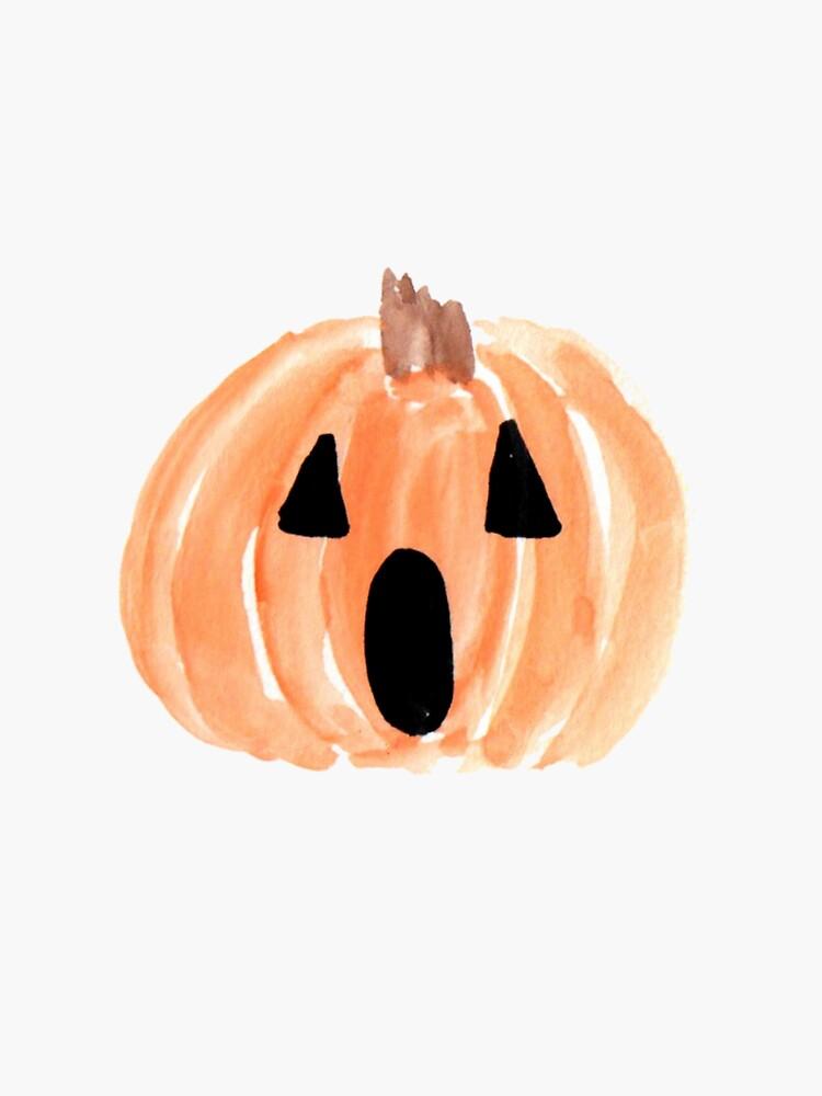 Halloween-Jack-O-Laterne, Aquarell-Kürbis, glückliches Halloween, gespenstischer Kürbis von EarthlyIndigo