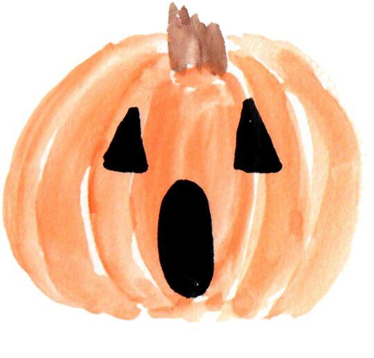 Halloween jack o lantern watercolor pumpkin happy halloween spooky pumpkin by
