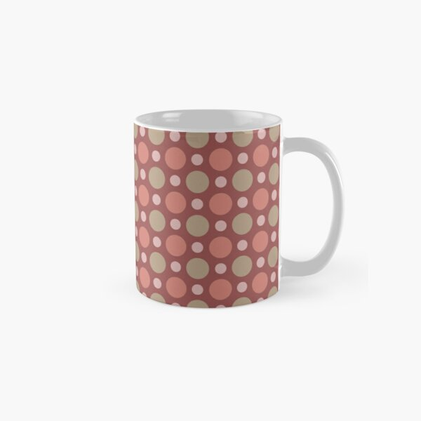 Polka Dots Wine Red Marsala Travertine Terra Cotta Classic Mug