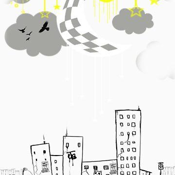 City Life at Nite by branmattic