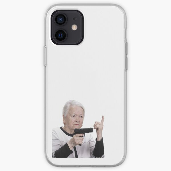 Armed old lady iPhone Soft Case