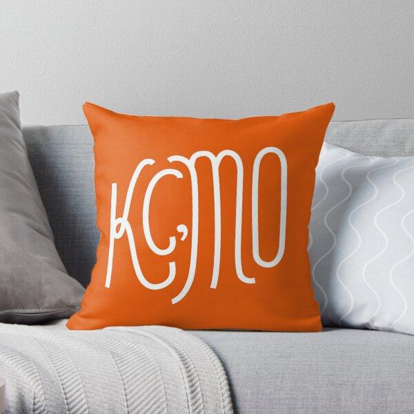 Kansas City Series: Orange Throw Pillow