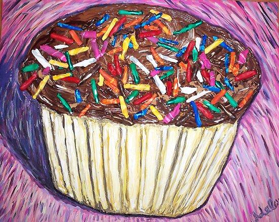 """Chocolate Cupcakes With Sprinkles"" by Adela bellflower"