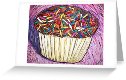 """Chocolate Cupcakes With Sprinkles"" by Adela bellflower"