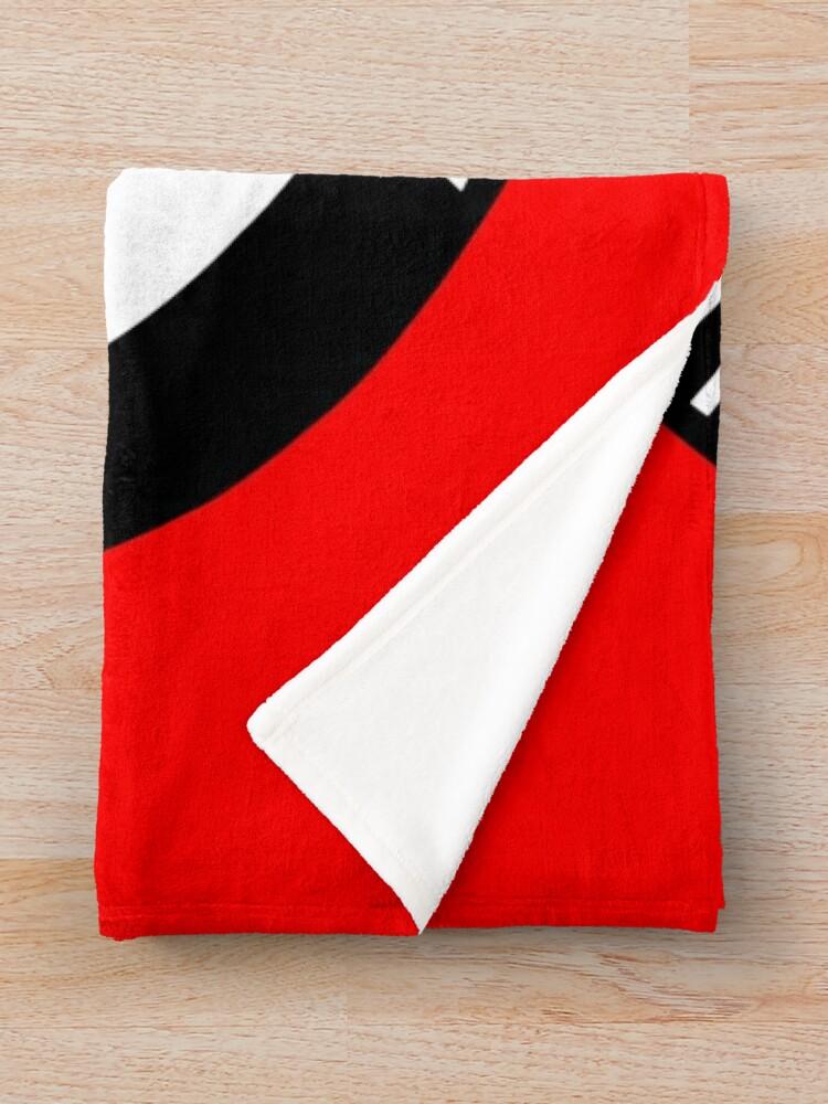 Alternate view of Antifaschistische Aktion Throw Blanket