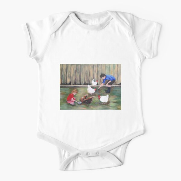 Daily Chores Short Sleeve Baby One-Piece