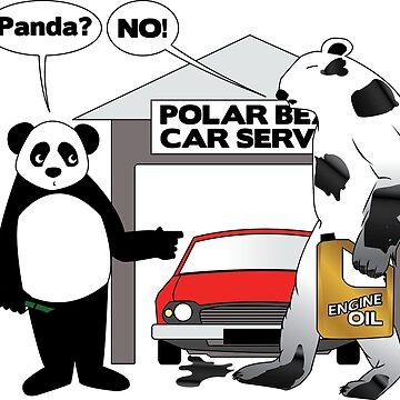 Panda and Polar Bear Mechanic by BCreative4U