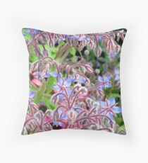 Borage in bloom Throw Pillow