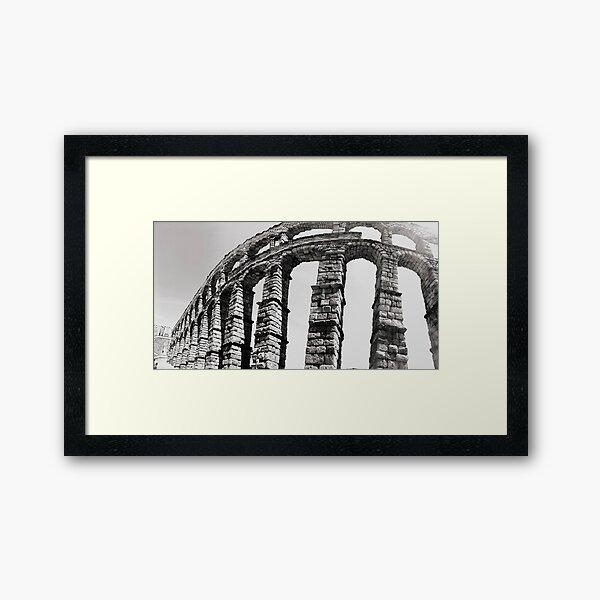 Roman Aqueduct of Segovia Framed Art Print