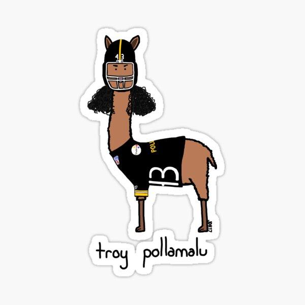 troy pollamalu Sticker