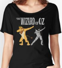 Cowardly Lion & Tin Man Dab T-Shirt -The Wizard Of Oz TShirt Women's Relaxed Fit T-Shirt
