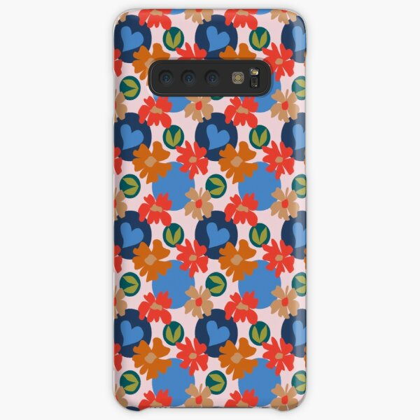 Fashionable Autumn Fall Floral Heart Leaves Dots Pattern Samsung Galaxy Snap Case