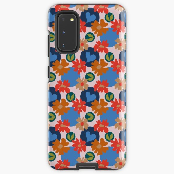Fashionable Autumn Fall Floral Heart Leaves Dots Pattern Samsung Galaxy Tough Case