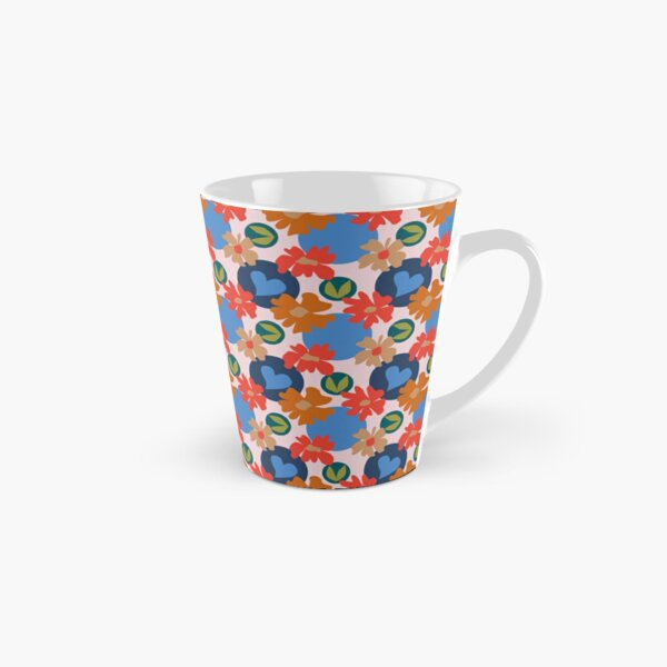 Fashionable Autumn Fall Floral Heart Leaves Dots Pattern Tall Mug