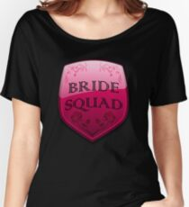 Bride Squad Floral Shield Crest for bridesmaids Women's Relaxed Fit T-Shirt