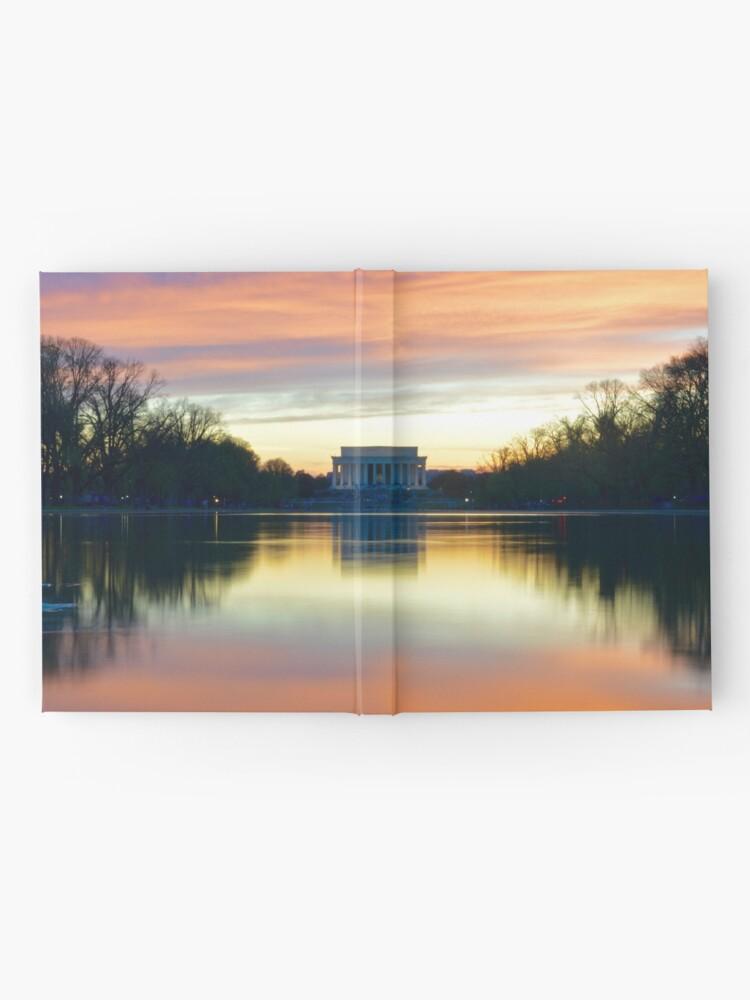 Vista alternativa de Cuaderno de tapa dura Lincoln Memorial Sunset