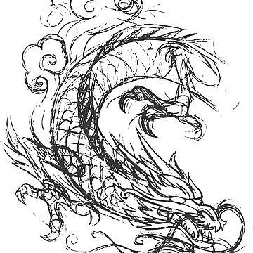 Kung-Fu Dragon T-Shirt by claudiorrb