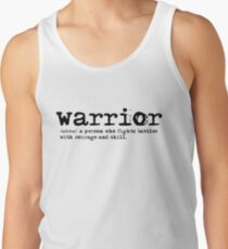 Christian Spiritual WARRIOR DEFINITION Tank Top