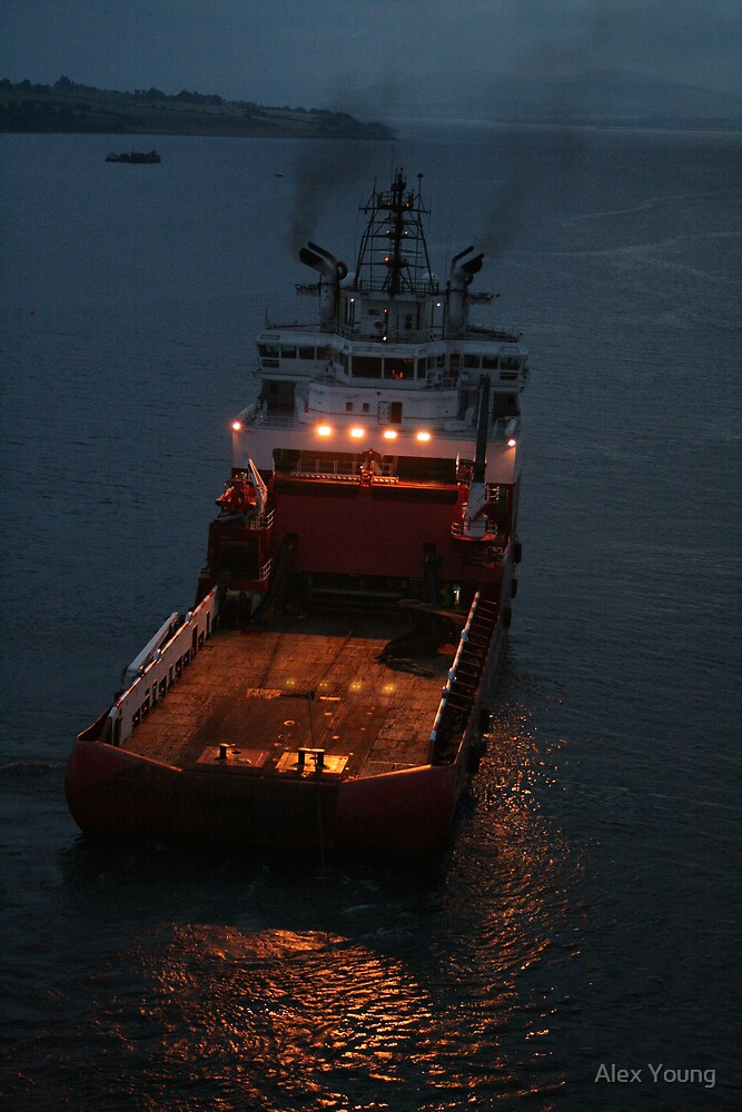 Suvarna, anchor handling vessel. by Alex Young
