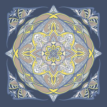 barocco color mandala by kanvisstyle