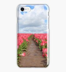 Field Of Pink Tulips iPhone Case/Skin