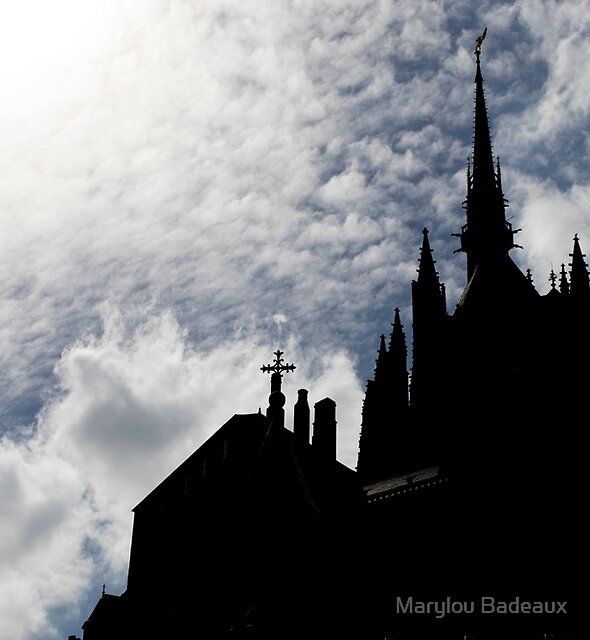 Shadows of Mont St Michel by Marylou Badeaux