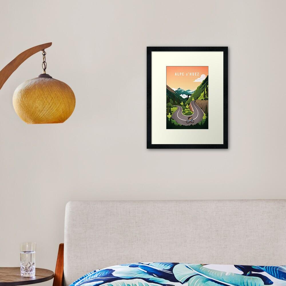 Alpe d'Huez Framed Art Print