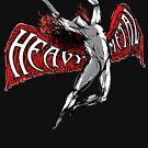 ICARUS THROWS THE HORNS - HEAVY METAL red NEW by butterflyscream