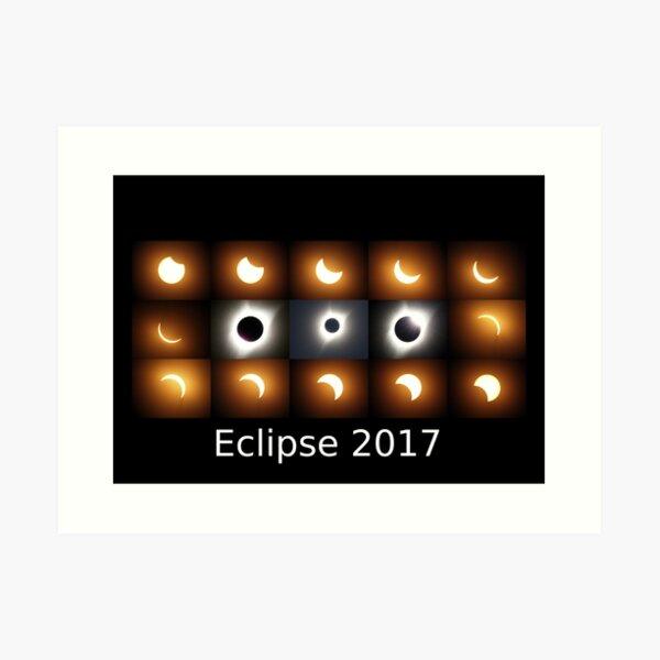 Eclipse 2017 sequence Art Print