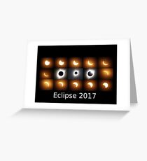 Eclipse 2017 sequence Greeting Card