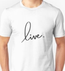 """live."" hand drawn lettering T-Shirt"