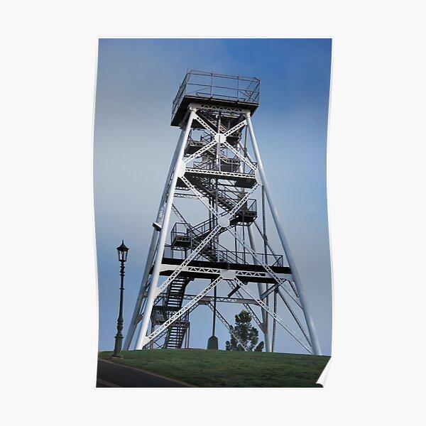 Gold Mining Tower, now viewing tower, Bendigo Poster