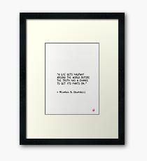 Winston S. Churchill Zitat 2 Gerahmtes Wandbild