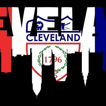 Cleveland Flag Skyline by Shappie112