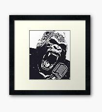 """""""Goin' Ape on the Mic"""" Framed Print"""
