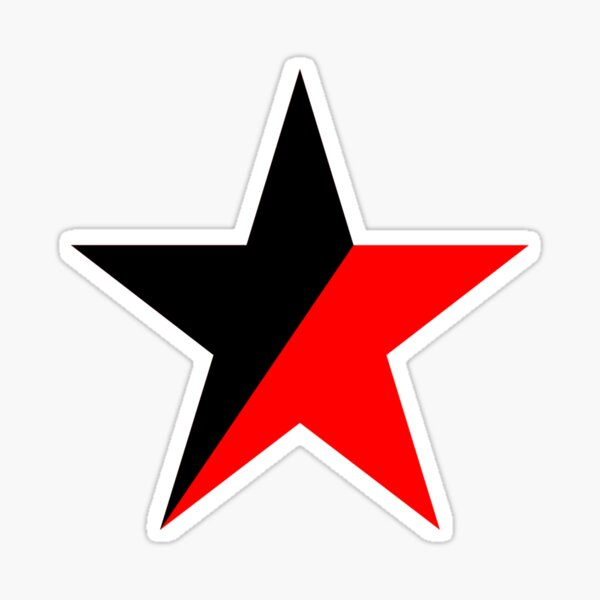 Estrella anarco-comunista Pegatina