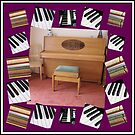 An Invitation To Play - Piano Keys Collage von BlueMoonRose
