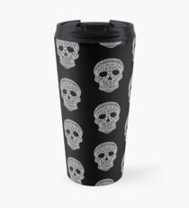 Mandala Skull - White Print Travel Mug