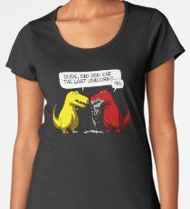 Dude Did You Eat The Last Unicorn Funny Dinosaur Women's Premium T-Shirt