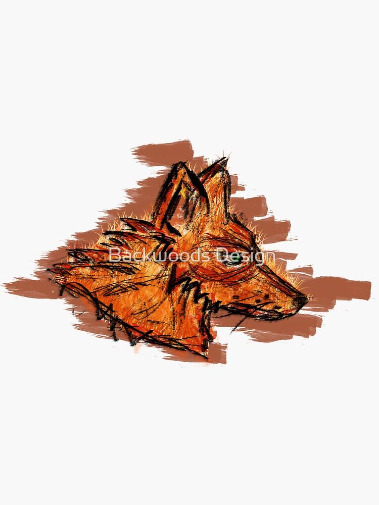 Graffiti Fox Abstract Art by RumFoxMedia