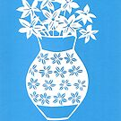 blue and white vase by Tracey Lennon