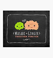 Wasabi and Ginger Together Forever Photographic Print